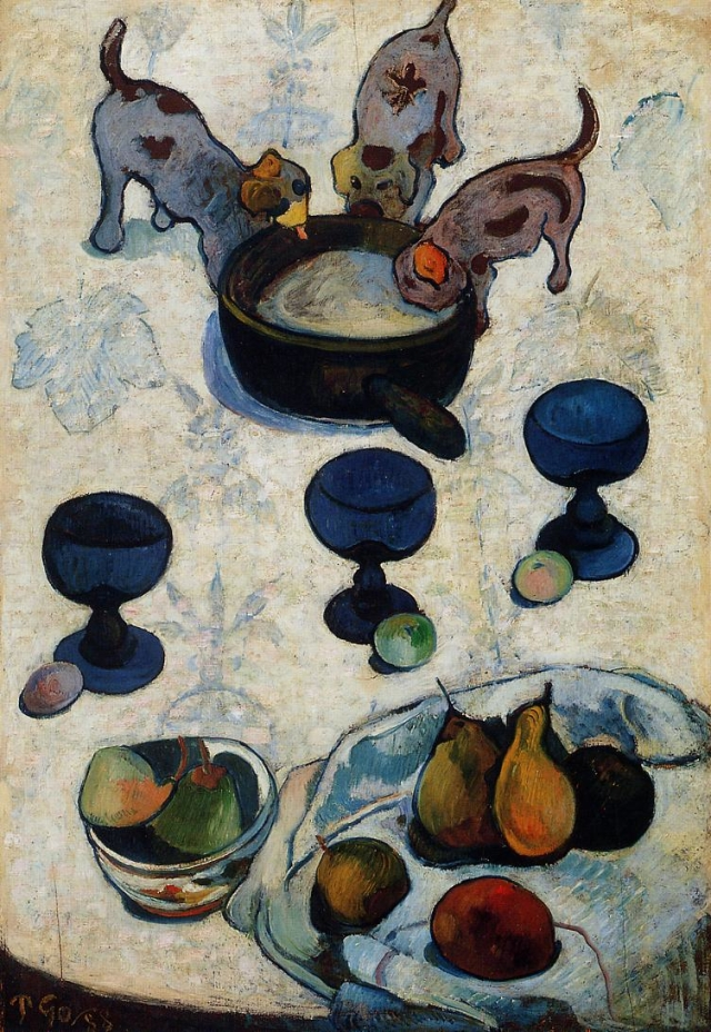 Still Life with Three Puppies (1888) - Paul Gauguin