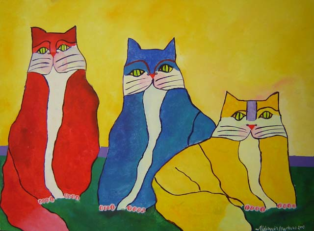 Family of Cats (2003) - Aldemir Martins