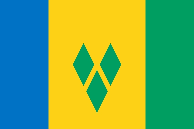 Saint Vincent & The Grenadines Flag