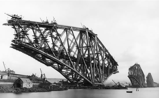 Forth Rail Bridge Construction