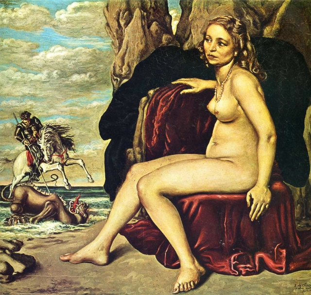 Saint George and Dragon Giorgio de Chirico