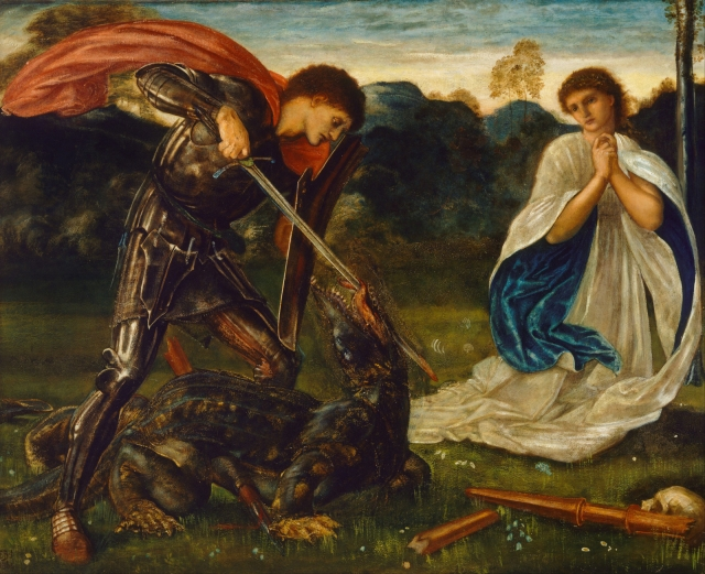 Saint George and the Dragon Edward Burne-Jones 1600