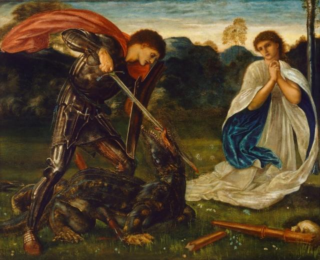 Saint George and the Dragon Edward Burne-Jones 1600
