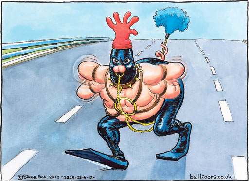Steve Bell cartoon, 28.06.2012